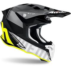 Кроссовый шлем Airoh Twist 2.0 Tech матово - желтый размер M (57-58)