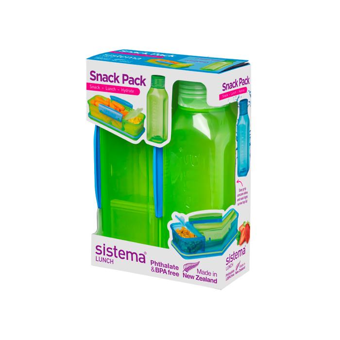 "Набор Sistema ""Lunch"": ланч-бокс и бутылка, цвет Зеленый"