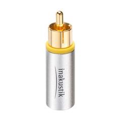 Inakustik Exzellenz New RCA Plug, 8 mm, 1 pc, 006990061