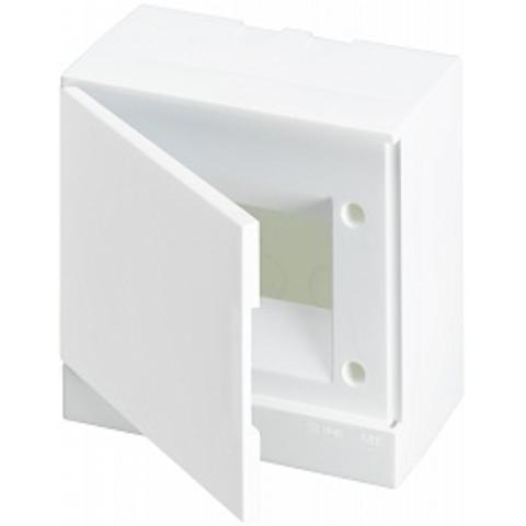 Бокс на стену Basic E 6-модулей непрозрачная дверь. Цвет Белый. (с клеммами) 190mm*180mm*102mm IP40. ABB. 1SZR004002A2102