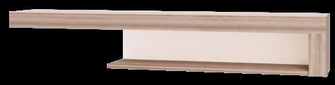 Полка навесная Люмен 04 Ижмебель дуб сакраменто/белый снег глянец