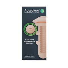 Autoblow - A.I. Silicone Mouth Sleeve White (насадка ротик)