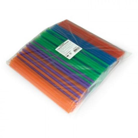 Трубочки для коктейлей Горница цветные длина 24 см 250 штук в упаковке