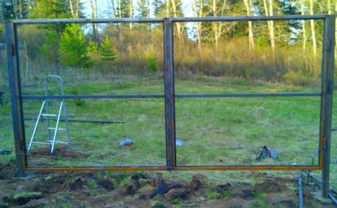 Каркас распашных ворот 3500Х2000 мм