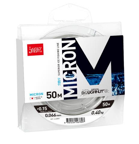 Леска монофильная LUCKY JOHN Micron, зимняя, 50 м - 0.085 мм, прозрачная