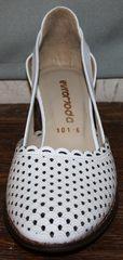 Белые туфли босоножки Evromoda 101-6 White.