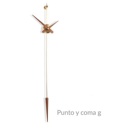 Часы Punto y Coma G латунь-орех
