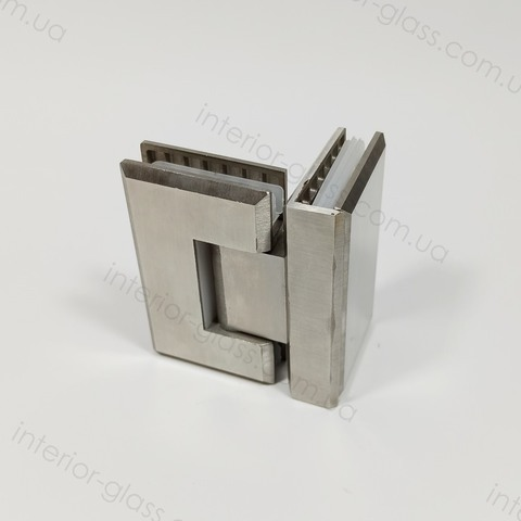 Петля душевая 90 град. HDL-304 SSS матовая нержавеющая сталь