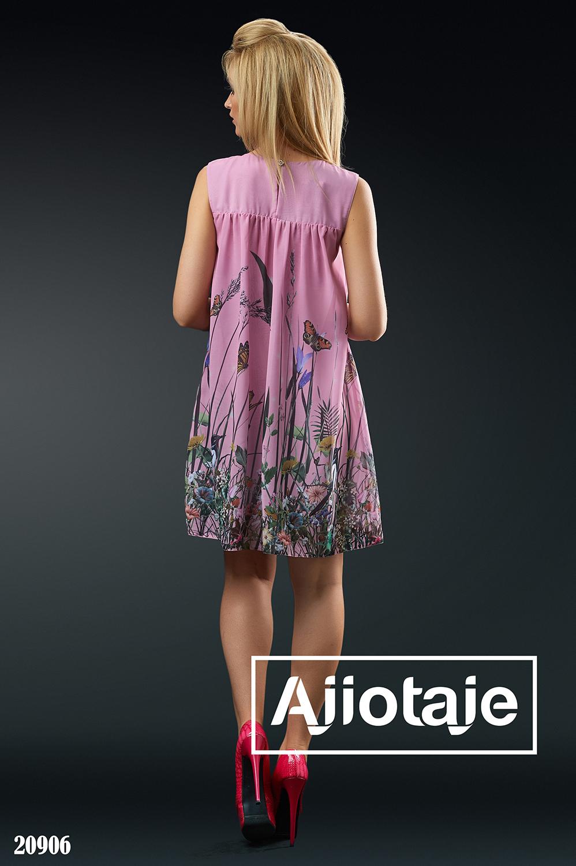 Шифоновое платье свободного кроя