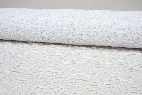 Сетка Ажурная (размер:50 см х 5 ярд) Цвет:белый