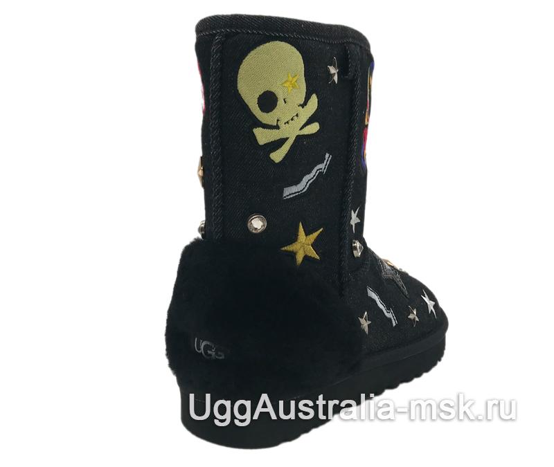 UGG Classic Short Patch It Black