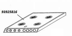 Стеклокерамическая варочная поверхность комбинированной плиты CANDY TRIO 93959542,  93925816