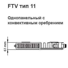 Радиатор Kermi FTV 11 500х1000