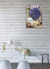 Картина на стекле Букет лаванды, 28х40 см