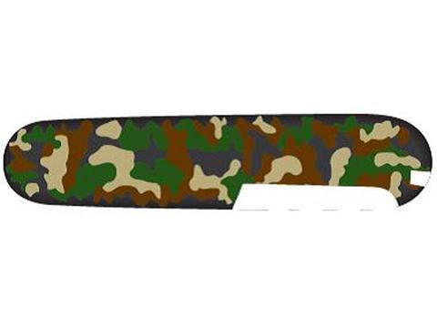 Задняя накладка для ножей Victorinox 91 мм, пластиковая, зелёный камуфляж