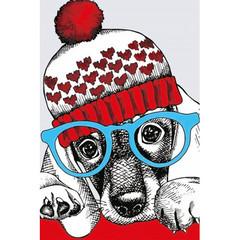 Картина по номерам Модный пёс