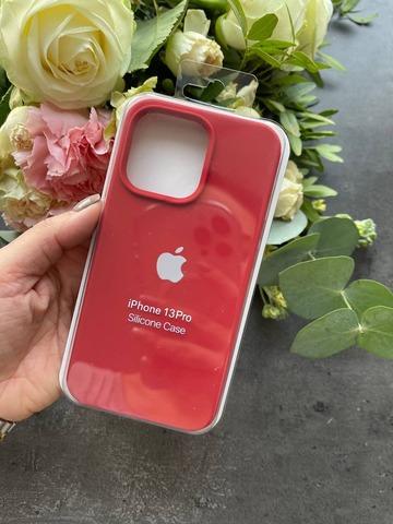Чехол iPhone 13 Pro Silicone Case Full /camellia white/