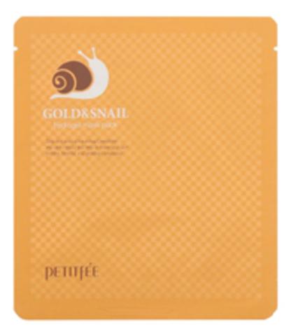 Гидрогелевая маска с золотом и муцином  улитки Petitfee Gold&Snail mask pack