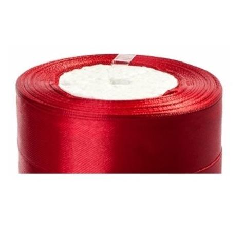Лента атласная (размер:25мм х 25 ярдов) Цвет:бордовый