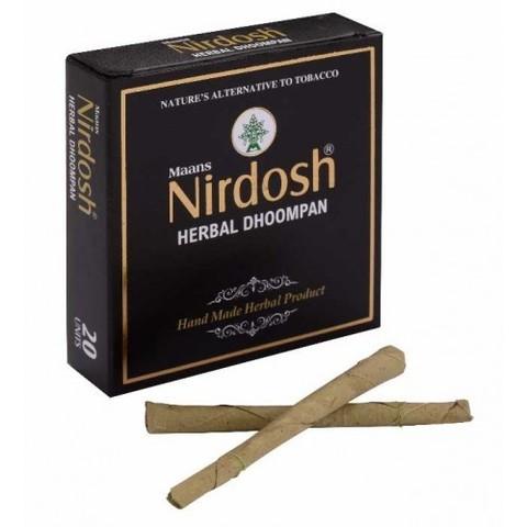Нирдош сигареты без табака, 20 шт, без фильтра (Индия)
