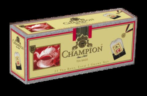 Чёрный чай Champion, 25 пакетиков