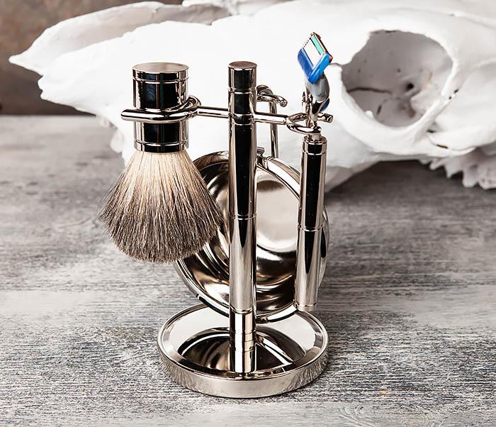RAZ405 Набор для бритья: чаша, помазок, безопасная бритва