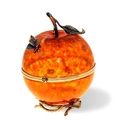 Шкатулка из янтаря «Райское яблоко»