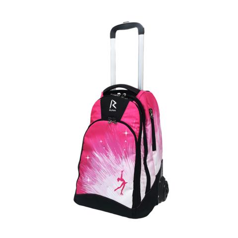 Сумка-рюкзак на колесиках «RUNA» Фигуристка Стразы Pink