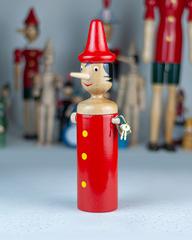 Деревянная копилка Пиноккио, 24 см, Италия