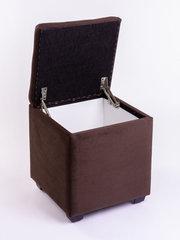Пф-400-Я Пуфик квадратный (коричневый) с ящиком для хранения