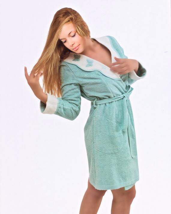Махровые халаты НАБОР женский махровый халат с тапочками  МОНИКА БАБОЧКИ - MONIQUE KELEBEK Maison Dor Турция unnamed-4.jpg