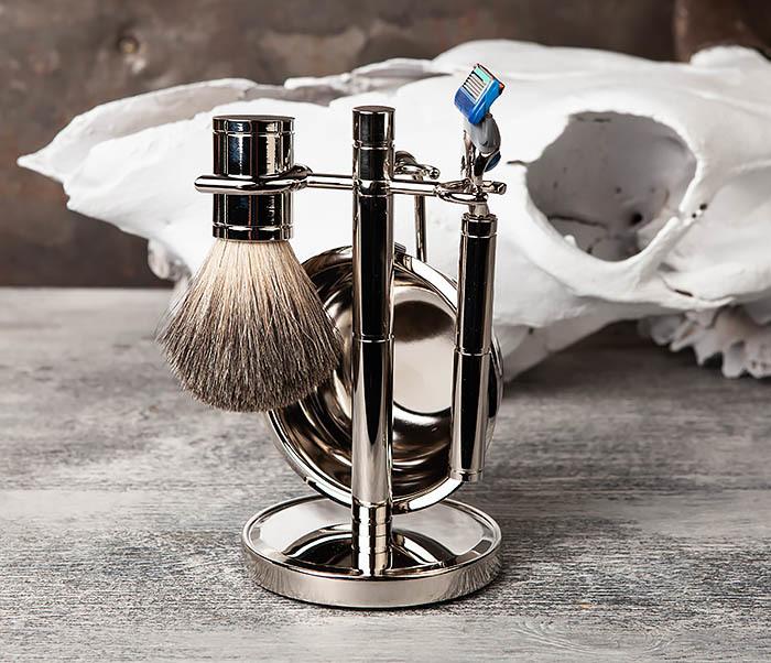 RAZ405 Набор для бритья: чаша, помазок, безопасная бритва фото 02