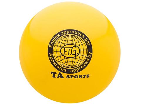 Мяч для художественной гимнастики силикон TA sport. Диаметр 19 см. Цвет жёлтый. :(Т8):