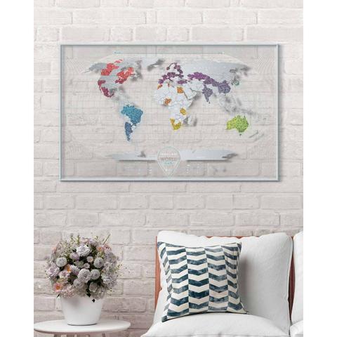 Cкретч-карта мира Travel Map Air World в металлической раме