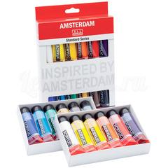 Набор акриловых красок Amsterdam Standard - 12 цветов в тубах по 20мл