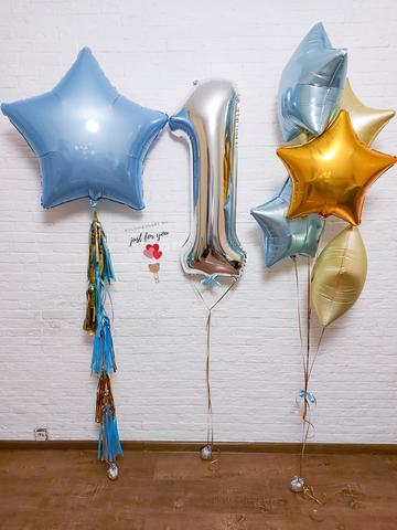 Воздушные шары на годик для мальчика
