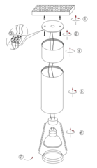 Накладной точечный светильник INL-7008D-01 White