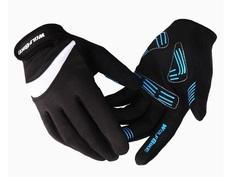 Велосипедные перчатки Wolfbike длинные (черные)