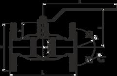 Конструкция LD КШ.Ц.Ф.400.016.П/П.02 Ду400 полный проход с редуктором