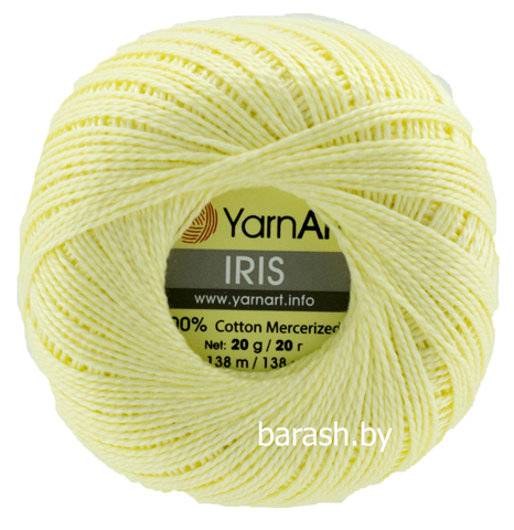 Пряжа Iris (Ирис) Светло-желтый. Артикул: 912