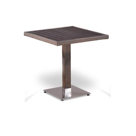 Плетеный стол T502DG-W1289-70х70 Pale