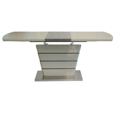Стол DT2123 Капучино глянец + латте / стекло капучино / 140(180)х80см