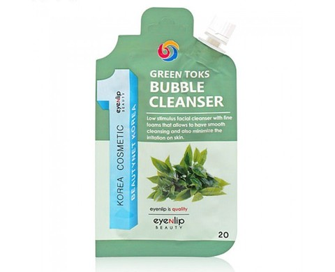 Пенка для умывания EYENLIP POCKET GREEN TOKS BUBBLE CLEANSER  20 гр