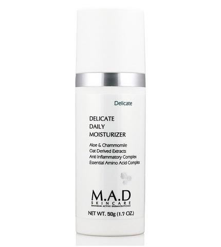 Крем увлажняющий для ухода за чувствительной кожей M.A.D Skincare Delicate Daily Moisturizer, 50 гр