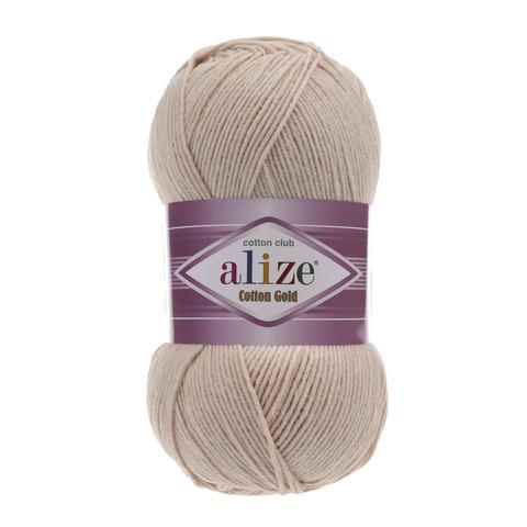 Пряжа Alize Cotton Gold светлый беж 67