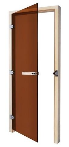Дверь SAWO 730-3SGA-L 7/19 (бронза, левая, без порога)