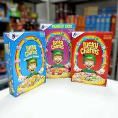 Готовый завтрак Lucky Charms Frosted Flakes хлопья с маршмеллоу 391 гр