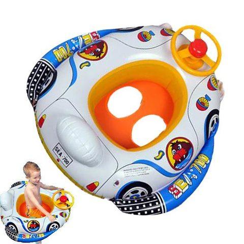 Детский надувной круг машинка