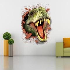 Парк юрского периода 3D наклейка Динозавр