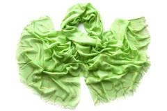 Женский хлопковый зелёный палантин (1181 PAL 4)